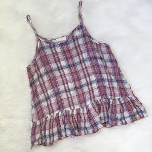 CP Shades Purple Plaid Tank Top